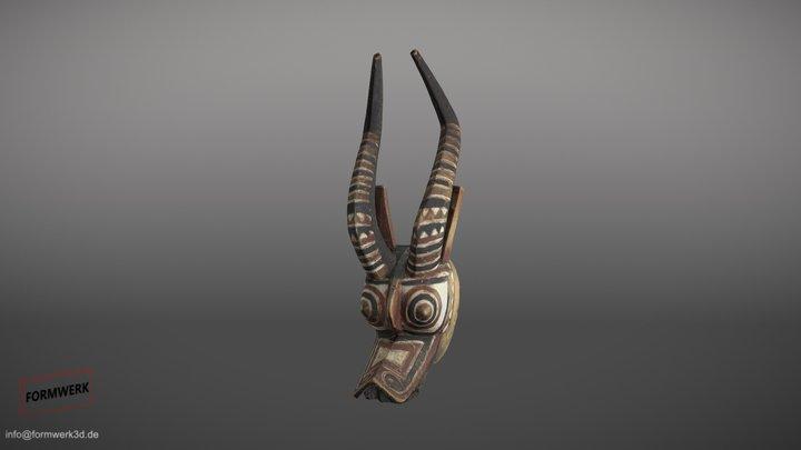 Afrikanische Maske 3D Scan - Low Poly 3D Model