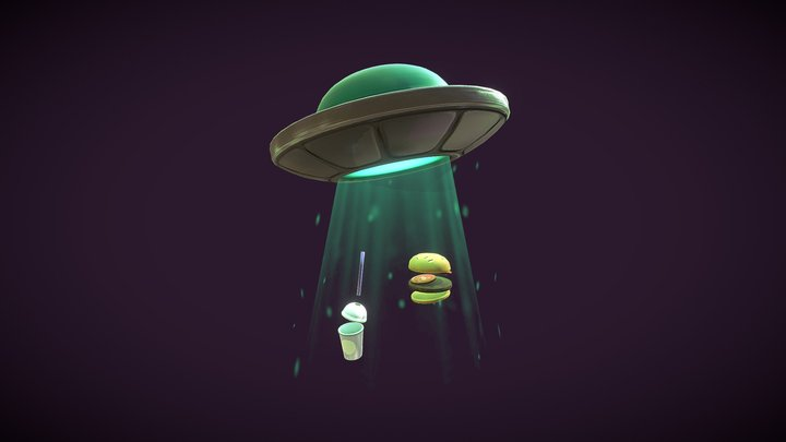 SpaceBurger 3D Model
