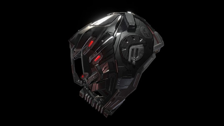 Altered Carbon CTAC Helmet 3D Model