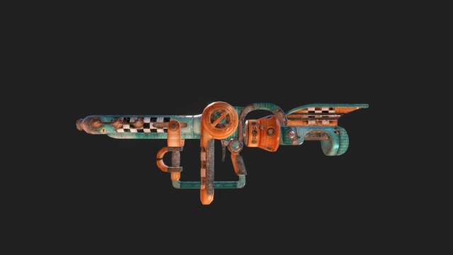 Retro Atomic Blow Dryer Abd-2000 3D Model