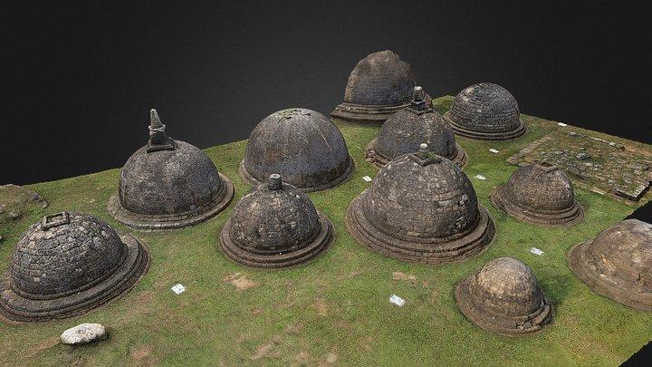 Kantharodai Stupas: Southern Section 3D Model