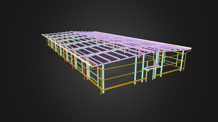 Project 2 - Steel Structure Shed 3D Model