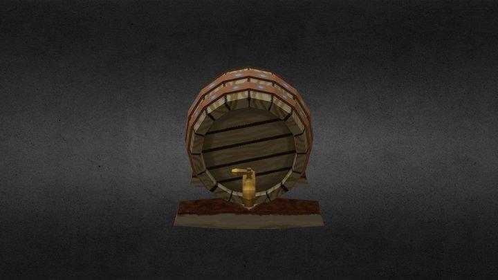 Ale Barrel 3D Model
