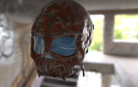Skull Shaped Half-Helm 3D Model