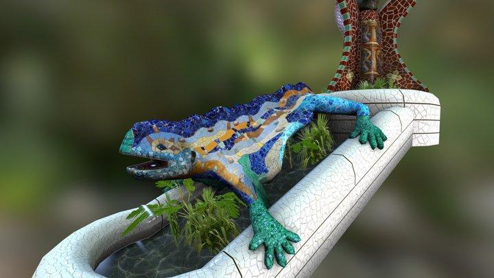 PARK GÜELL LIZARD - Barcelona 3D Model