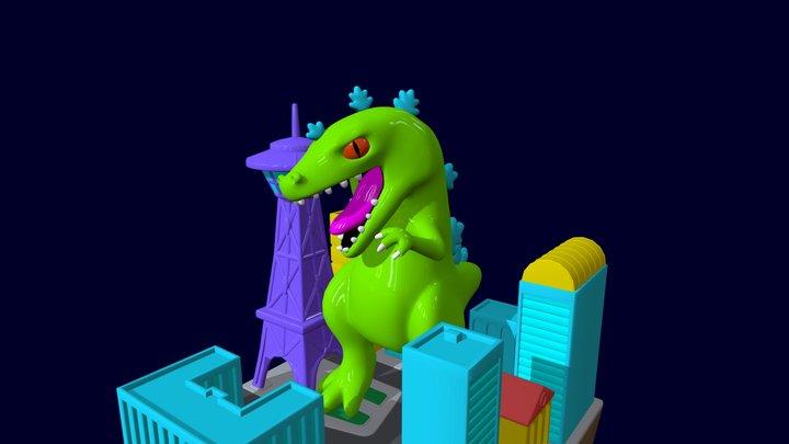 Second Reptar Progress 3D Model