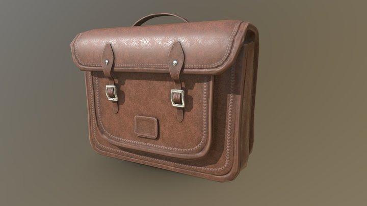 Leather Satchel 3D Model