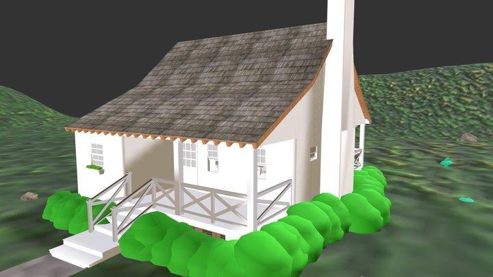 Deer Run Cabin 3D Model
