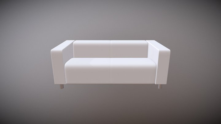 "White Couch, ""Brent"" 3D Model"