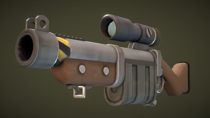 Granadier's Discharge - A Team Fortress 2 weapon 3D Model