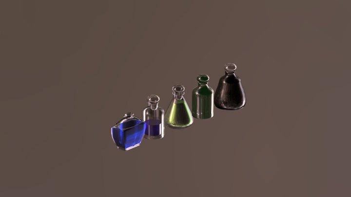 Magic Bottles 3D Model