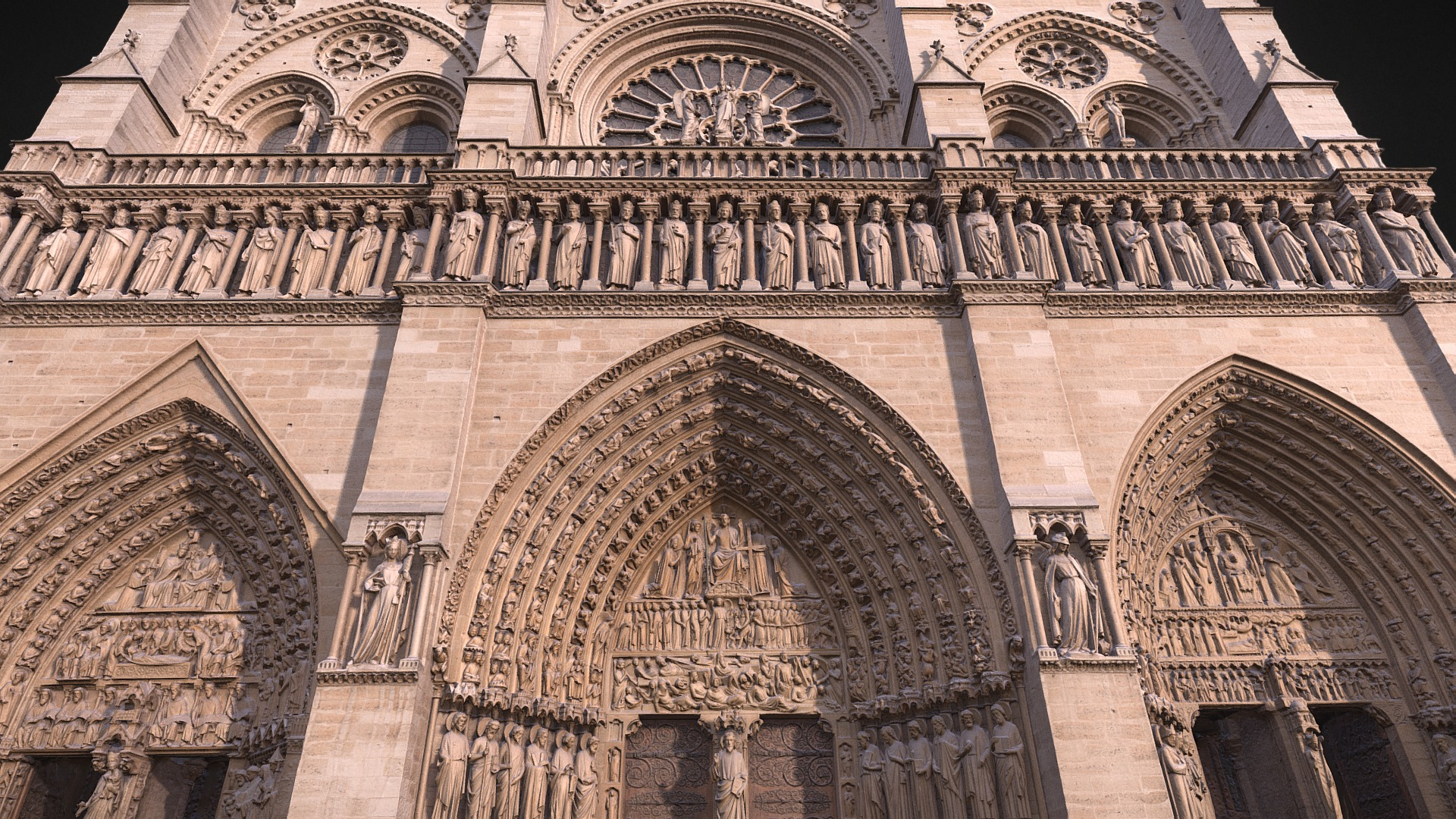 Notre Dame De Paris Facade 3dscan 3d Model By Scanboxyz
