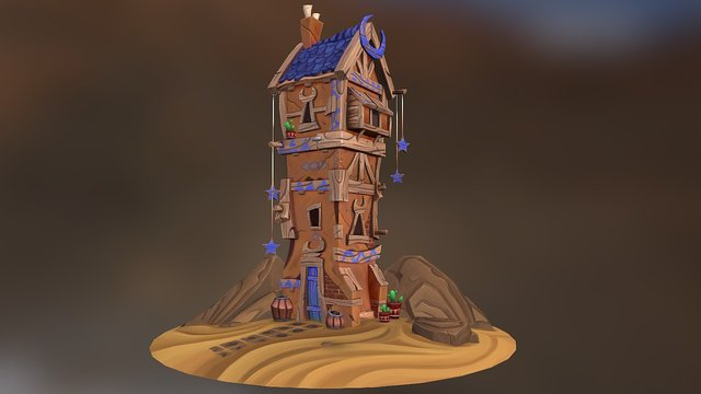 Moon House 3D Model