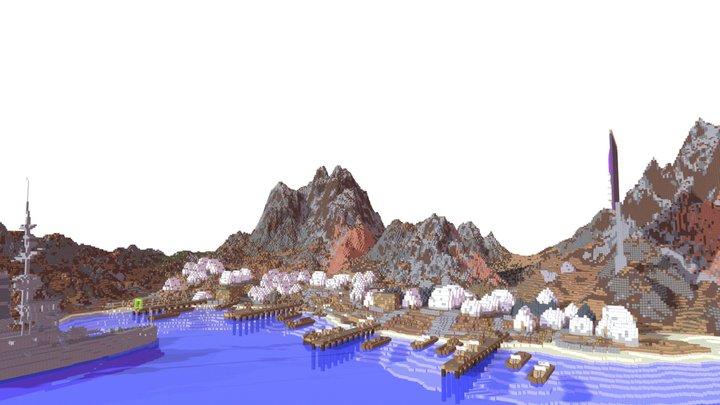 Anzac Cove 3D Model