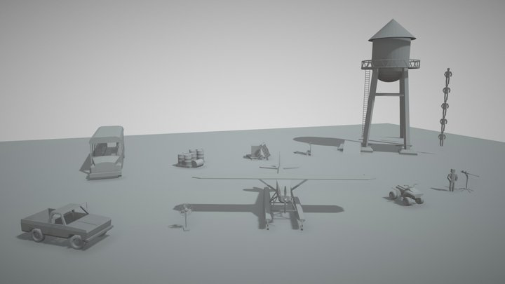 10items From game 3D Model