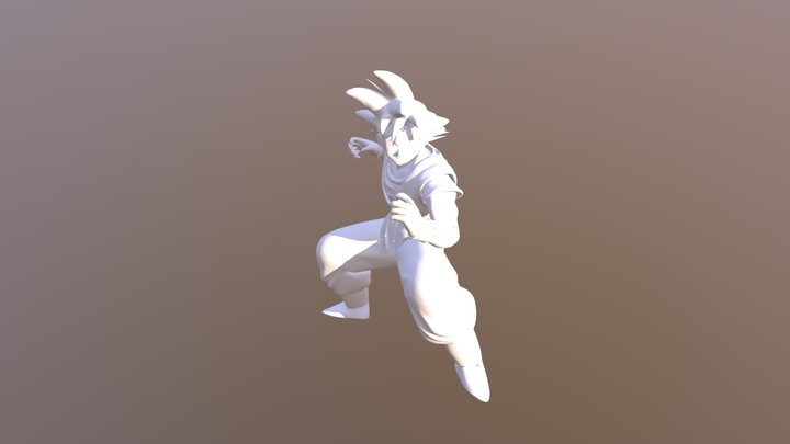 Dragon Ball Z - Guko Character 3D Model