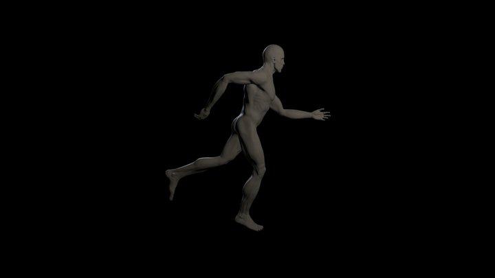 Male Running 2 3D Model