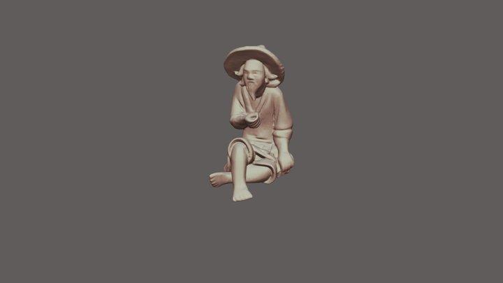 Bonsai Fisherman 3D Model