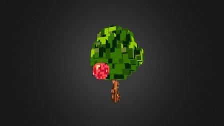 Voxel apple tree 3D Model