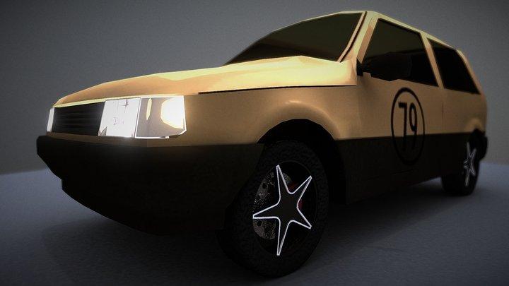 fiat_uno_70s 3D Model