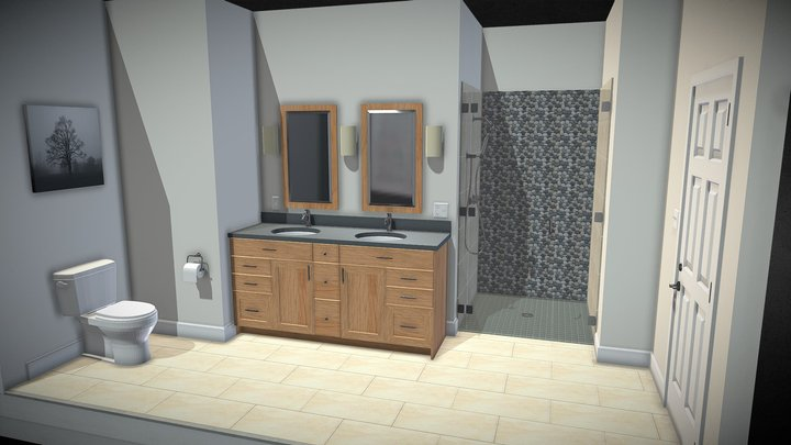3d Bath Peb 3D Model