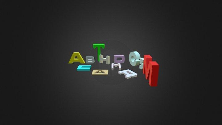 Letters 3D Model
