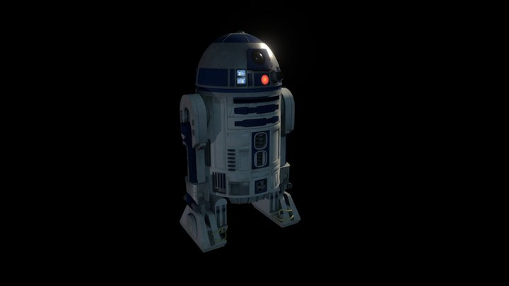 R2-D2 (Animated) 3D Model