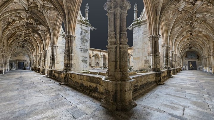 Full León cathedral cloister photogrammetry scan 3D Model