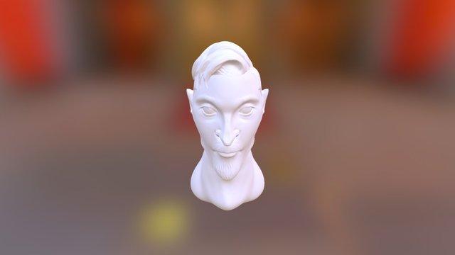 Hipster Bun 3D Model