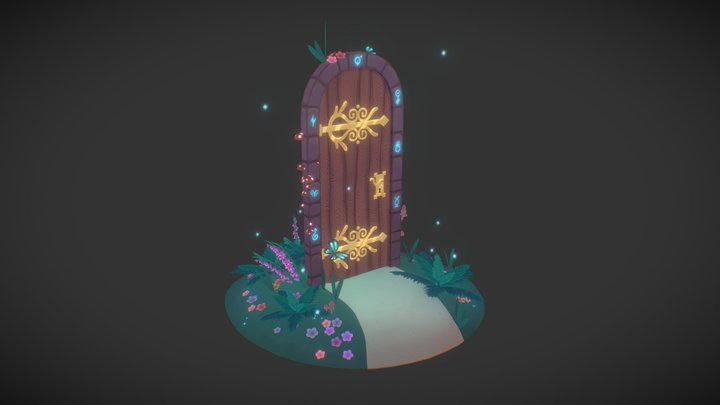 A door in the glade 3D Model