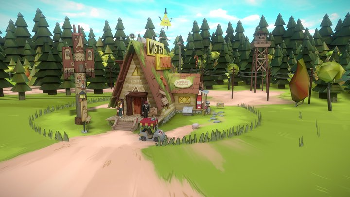 Gravity Falls 3D Model