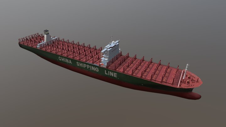 Container Ship: Star CSCL - without containers 3D Model