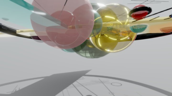 Circles in a Circle - Kandinsky - Project 3D Model