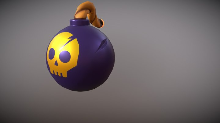 Stylized bomb 3D Model