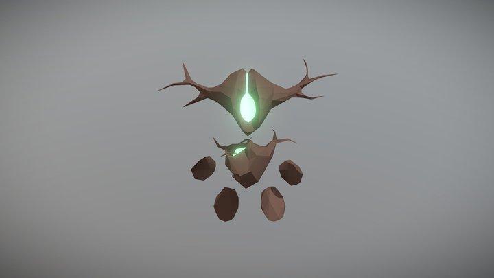 Wooden Golem 3D Model