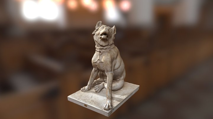 Antique Dog Sculpture in Vatikan, Italy 3D Model