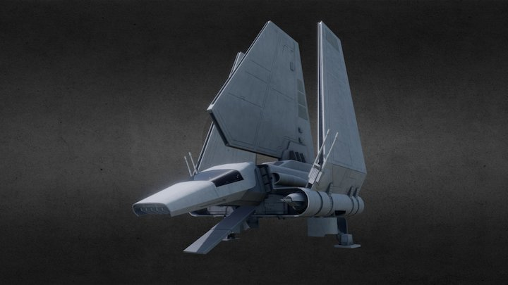 Star Wars - Imperial Lambda Shuttle 3D Model