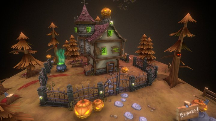 Halloween Mystical Place 3D Model