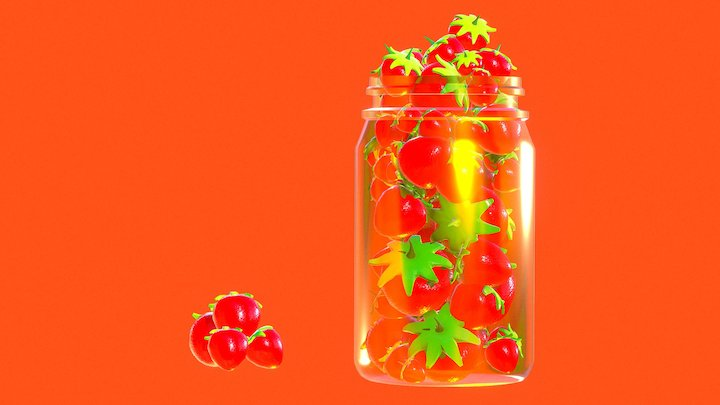 StrawBerry's 3D Model