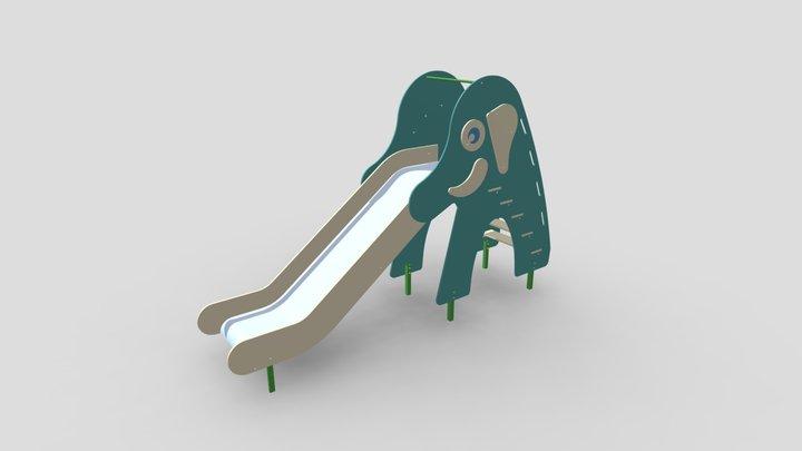 Elephant Slide ● Горка Слон 3D Model