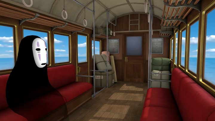 Spirited Away - Sea Railway 3D Model