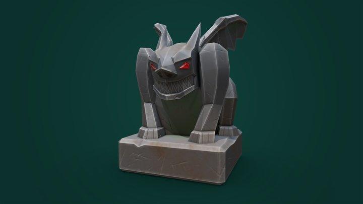 Aristocrash - Low Poly Gargoyle 3D Model