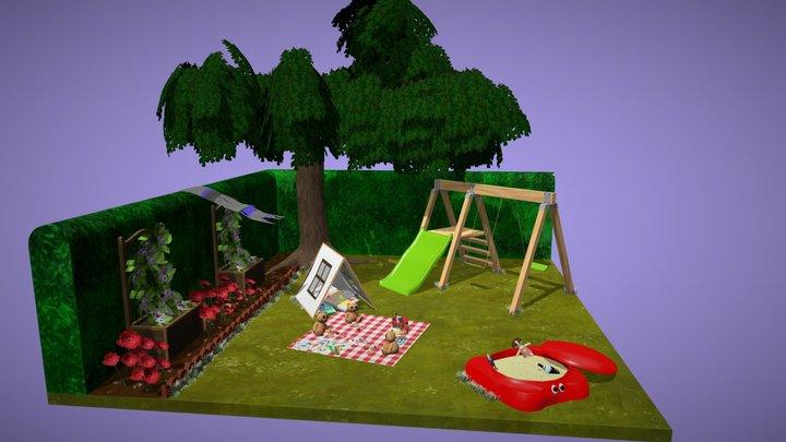 Teddy Bear's Picnic 3D Model
