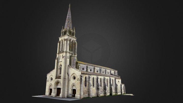 Eglise de Grignols 3D Model