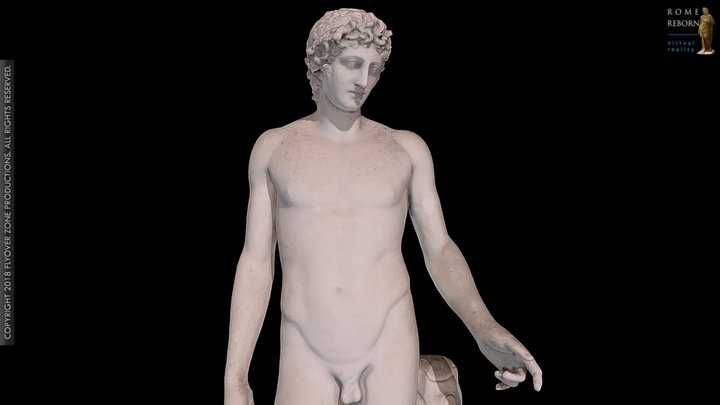 """Apollo , so-called """"Adonis of Centocelle"""" 3D Model"""