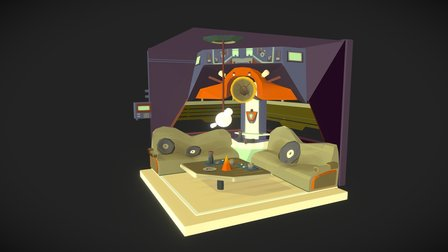 Cyberpunk Club Lounge Area 3D Model