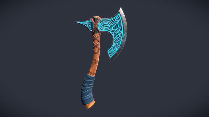 Viking Axe Stylized 3D Model