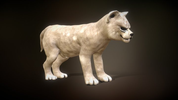 Lion animation low poly 3D Model