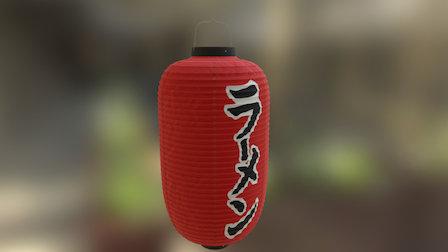 100% Authentic Japanese Ramenshop lantern 3D Model