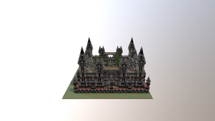 Minecraft Factions Spawn - Commission 3D Model